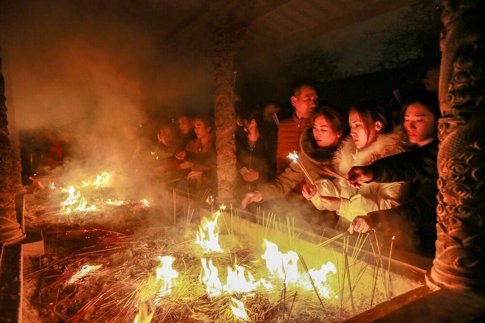 Célébration du Nouvel an lunaire dans les pays asiatiques