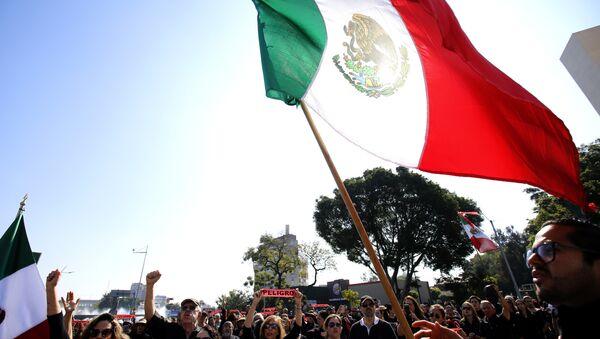 Manifestants contre la pénurie de l'essence, Guadalajara, Mexique - Sputnik France