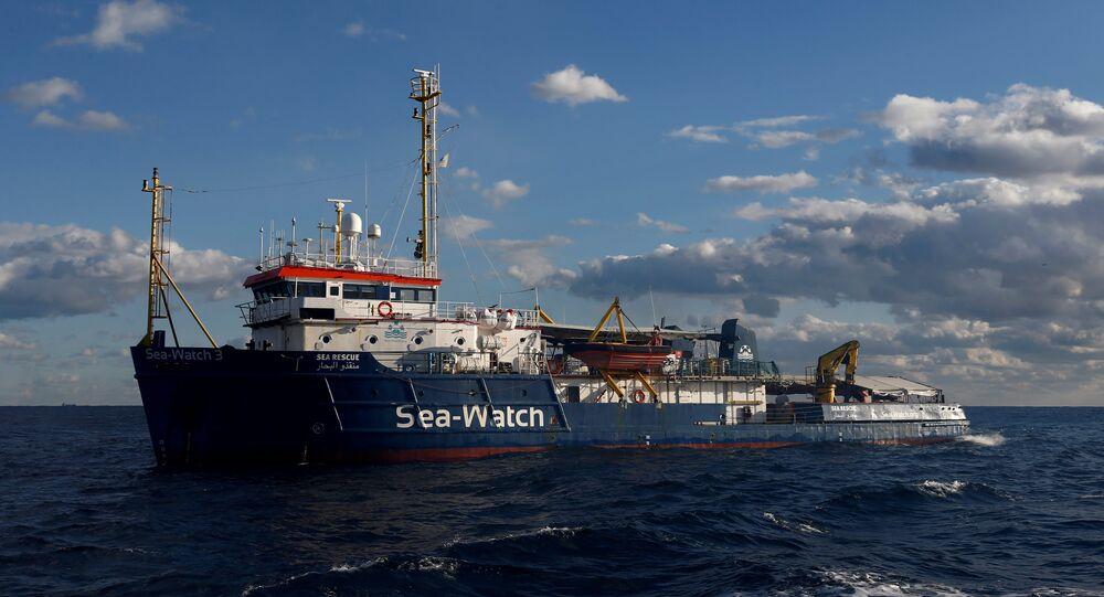 Le navire humanitaire Sea-Watch 3 de l'ONG allemande Sea-Watch