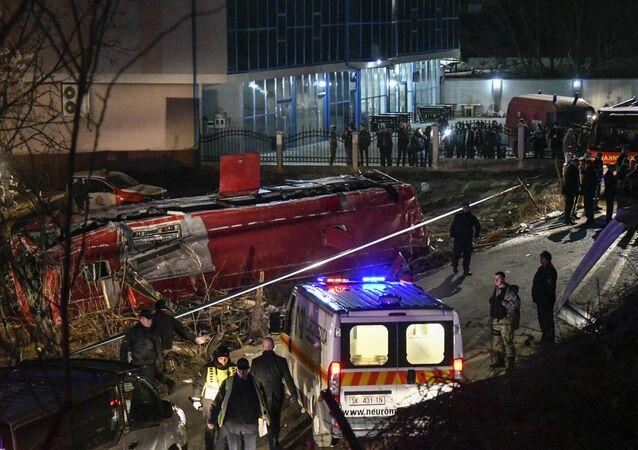 Au moins 13 morts dans un accident d'autocar en Macédoine du Nord (photos)