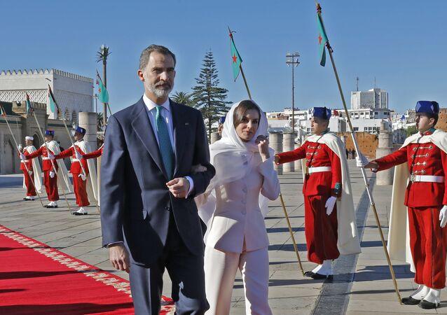 Le roi d'Espagne Felipe VI et son épouse Letizia Ortiz au Maroc