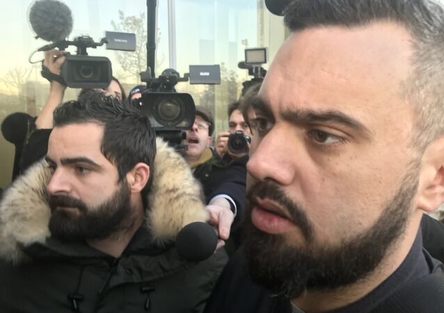 Eric Drouet est arrivé au Tribunal pour son procès, le 15 février 2019