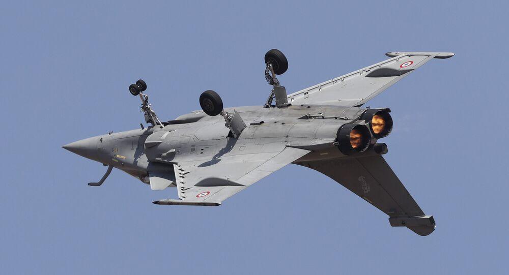 Un Rafale participe à un show aérien en Inde (archive photo)