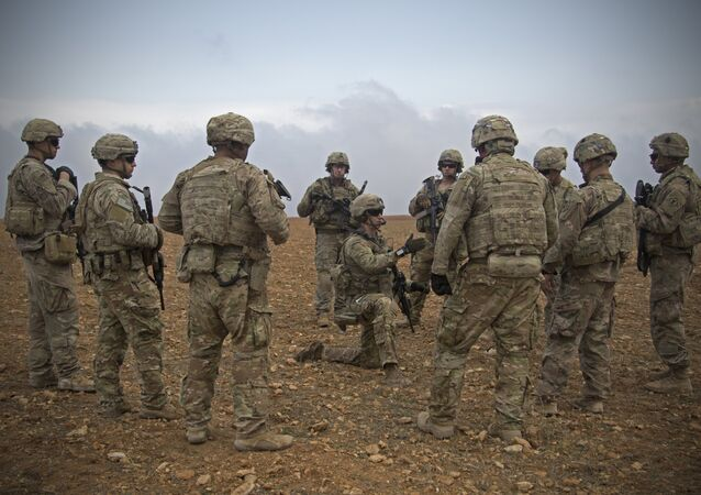 Militaires américains à Manbij, en Syrie