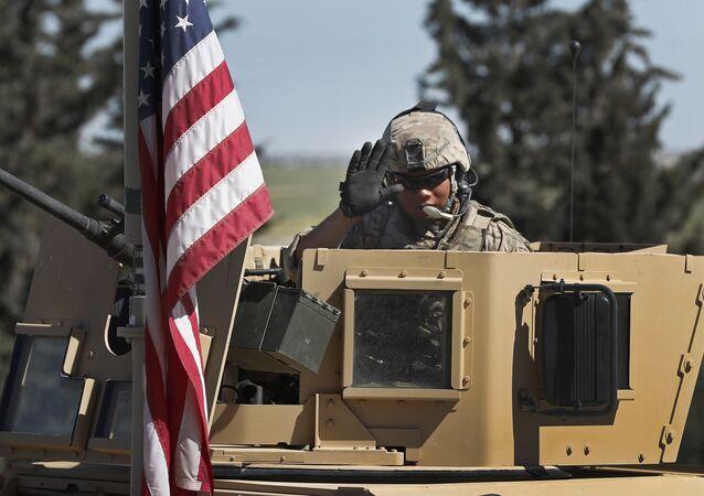 Un soldat US à Manbij, en Syrie (image d'illustration)