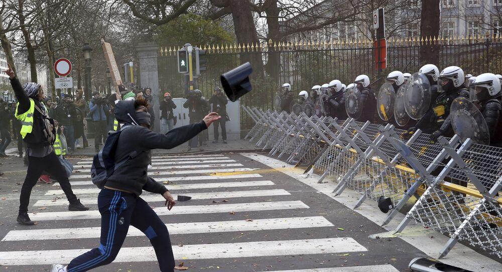 Manifestation à Bruxelles (archives)