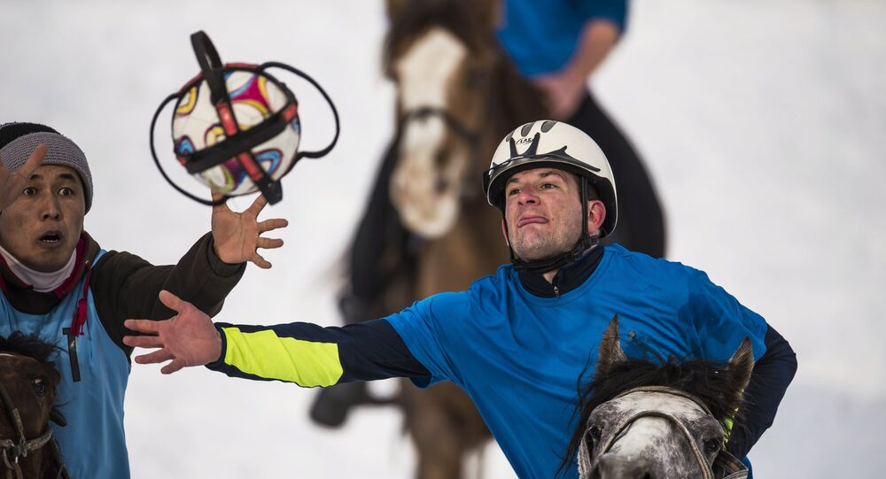 Un tournoi de horseball au Kirghizstan (archive photo)