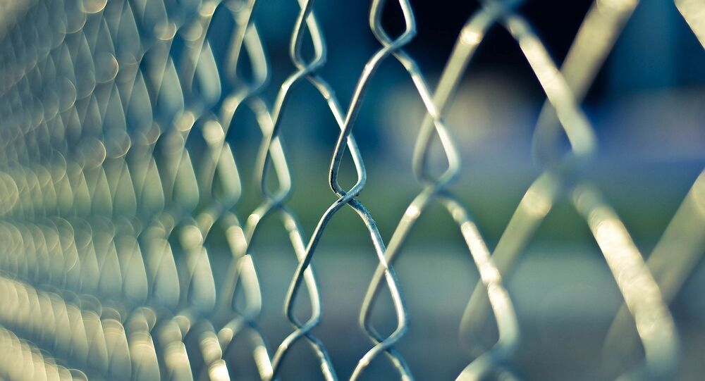 Une grille d'un prison