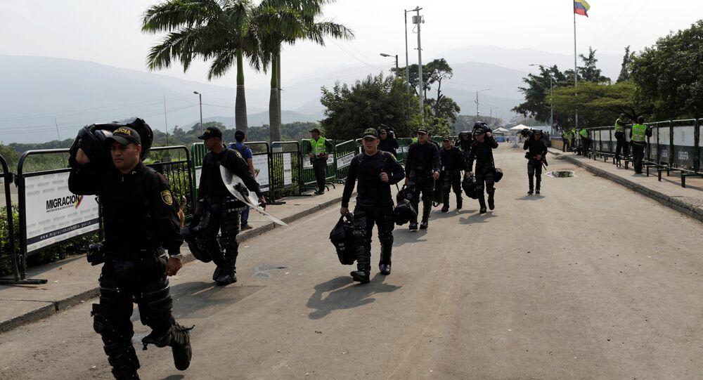 Le pont Simon Bolivar à la frontière entre le Venezuela et la Colombie