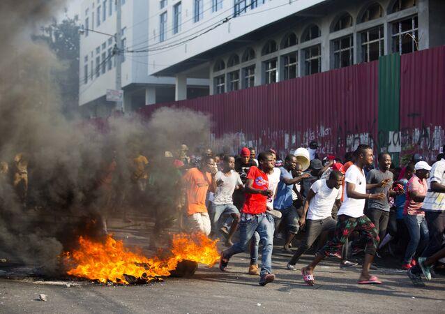 Manifestations à Haïti