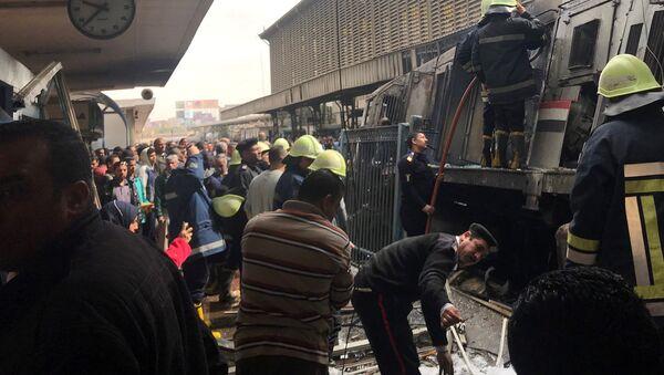 Déraillement d'un train à la Gare de Ramses en Egypte - Sputnik France