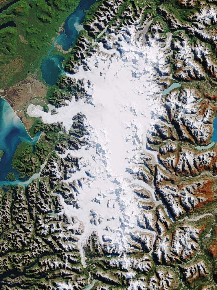 Air, eau, terre et glace: la Terre vue de l'espace