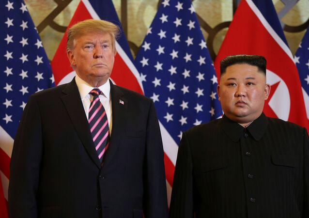 Donald Trump et Kim Jong Un à Hanoï