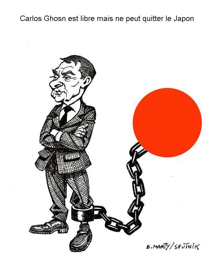 Carlos Ghosn est libre mais ne peut quitter le Japon