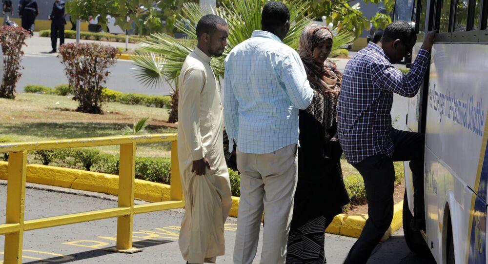 Proches des victimes du crash de l'avion en Ethiopie.