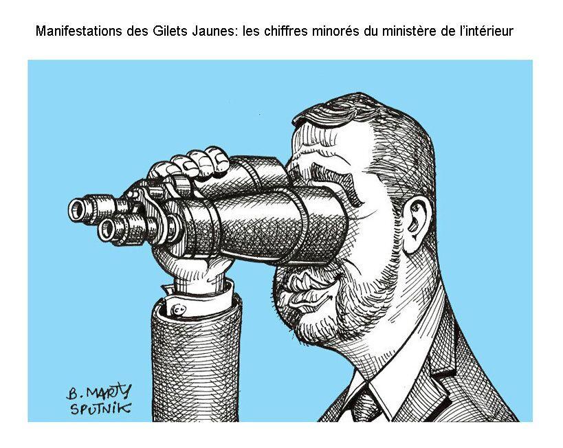 Manifestations des Gilets jaunes: les chiffres minoré du ministère de l'intérieur