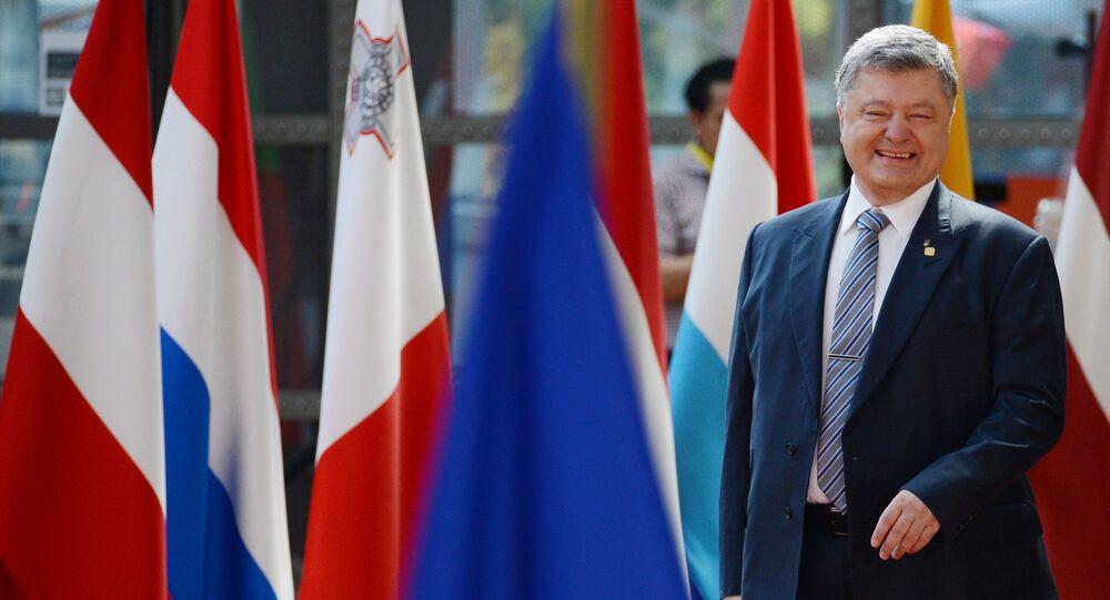 Piotr Porochenko pendant le sommet de l'UE en 2007