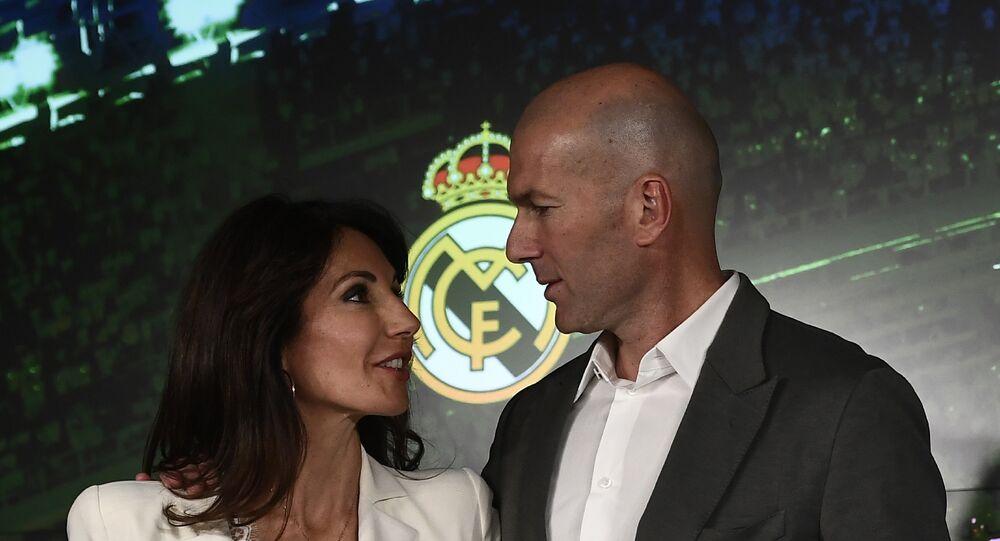Zinédine Zidane et son épouse