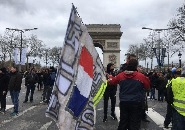 Acte 18: les Gilets jaunes défilent à Paris, le 16 mars 2019 (image d'illustration)