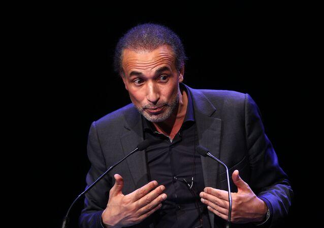 Tariq Ramadan lors d'un meeting à Lille en 2016