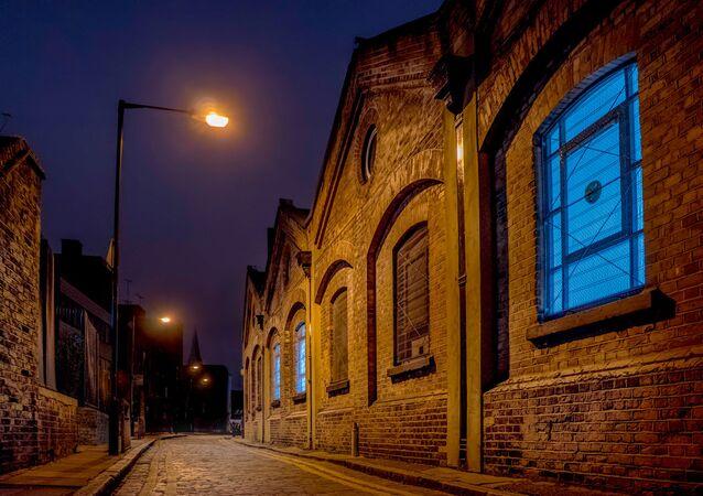 Une rue de Whitechapel, dans l'est de Londres