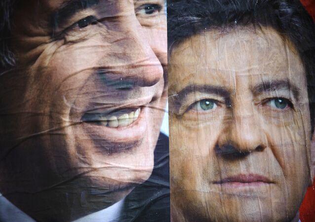 Francois Bayrou (à gauche) et Jean-Luc Mélenchon (archives)