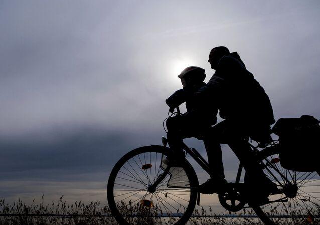 Un cycliste en Allemagne