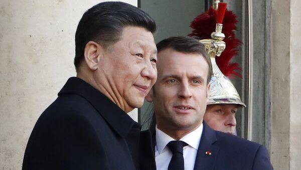 Emmanuel Macron et Xi Jinping - Sputnik France