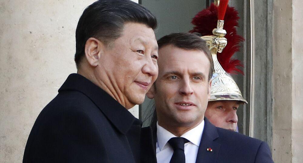 Emmanuel Macron et Xi Jinping à Paris le 25 mars 2019