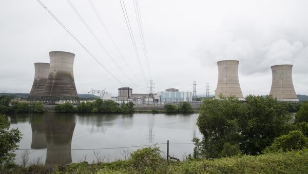 Shown is the Three Mile Island nuclear power plant in Middletown, Pa., Monday, May 22, 2017 - Sputnik France
