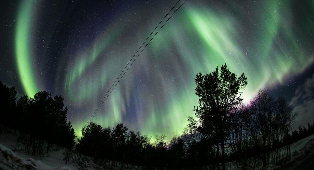L'aurore boréale dans la région russe de Mourmansk (archive photo)