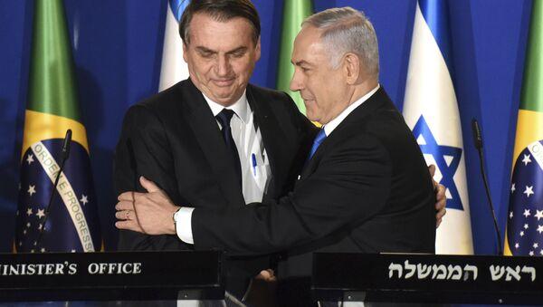 Jair Bolsonaro et Benjamin Netanyahu - Sputnik France