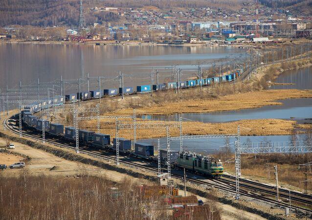 Le fret ferroviaire à travers la Russie