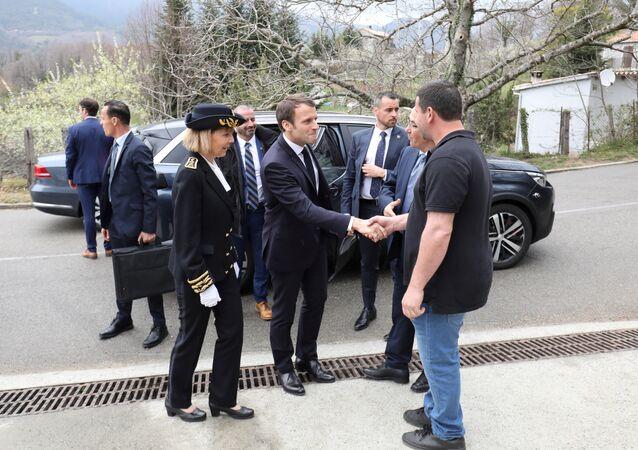 Emmanuel Macron à Cozzano