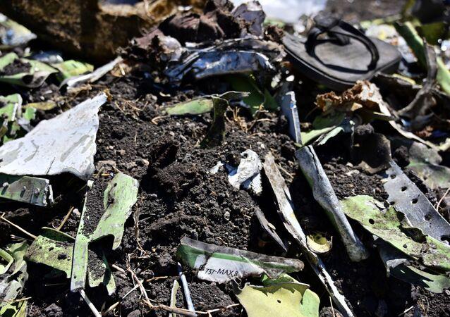 Les débris du Boeing 737 MAX 8 d'Ethiopian Airlines