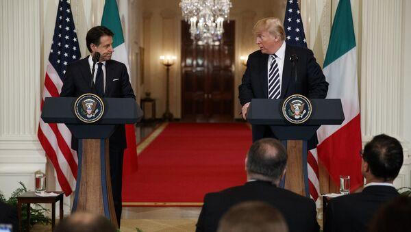 Donald Trump et Giuseppe Conte - Sputnik France