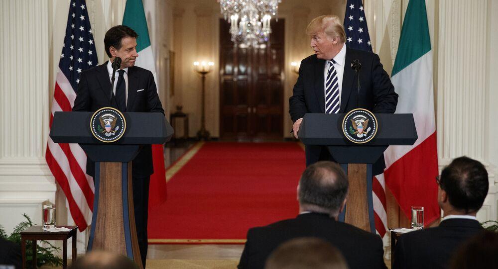 Donald Trump et Giuseppe Conte