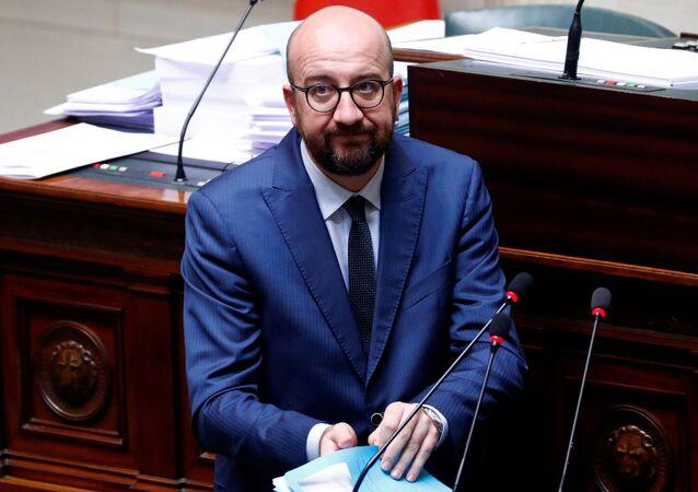 Le Premier ministre Charles Michel intervient au parlement belge (4 avril 2019)
