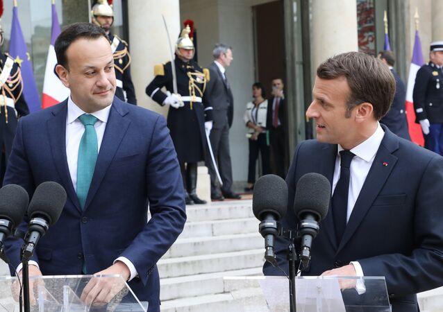 Emmanuel Macron et le Premier ministre irlandais Leo Varadkar