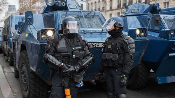 La police française lors d'une manifestation des Gilets jaunes à Paris (photo d'archive) - Sputnik France