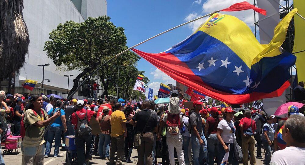 Une manifestations des partisans du gouvernement à Caracas