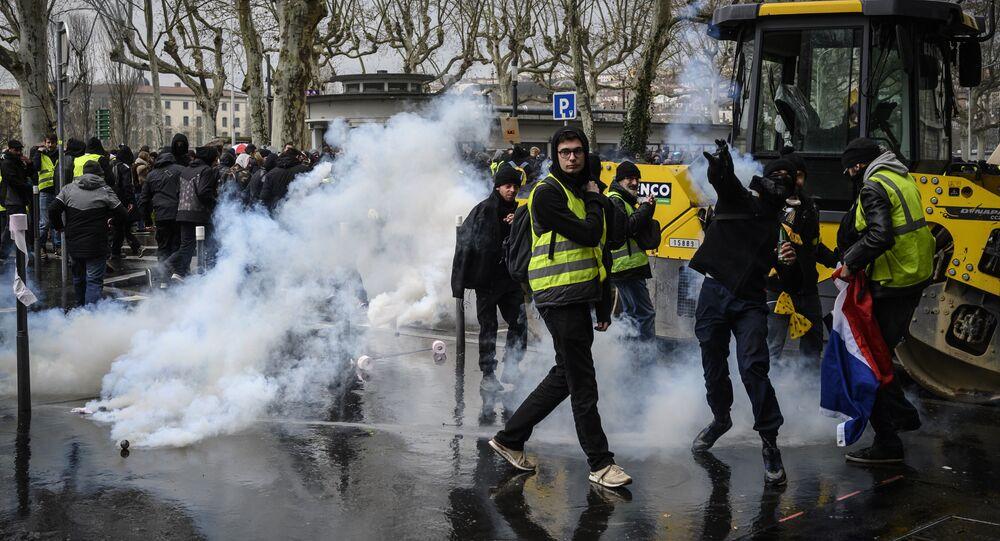 Gilets jaunes à Lyon, archives. Image d'illustration