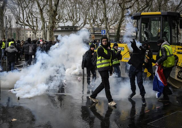 Gilets jaunes à Lyon, archives. Image d'illustration