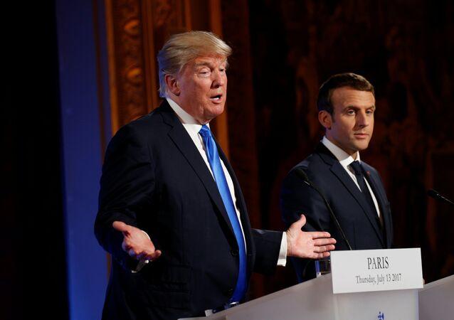 Donald Trump et Emmanuel Macron