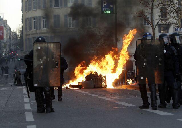 Protestations à Marseille en décembre 2018