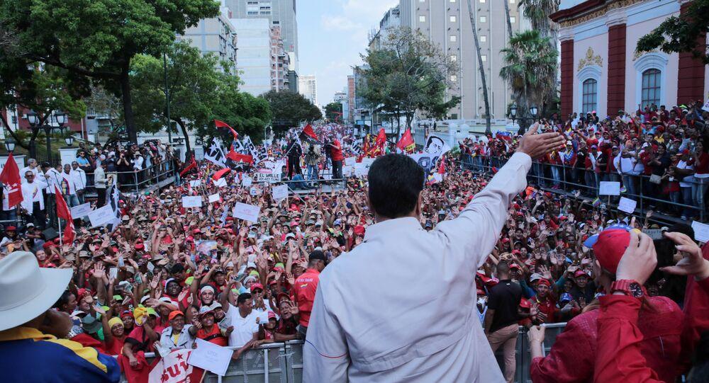 Nicolas Maduro, président du Venezuela, le 6 avril