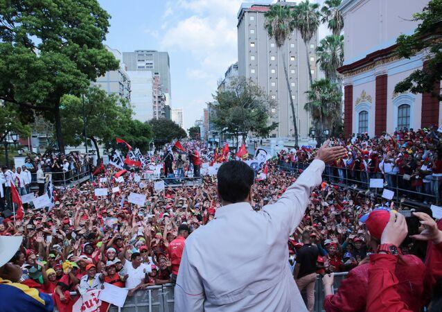 Président Nicolas Maduro à Caracas le 6 avril 2019