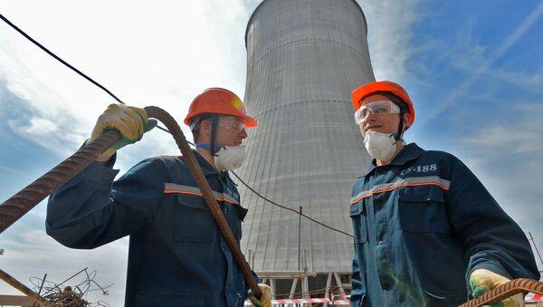 Construction d'une centrale nucléaire - Sputnik France