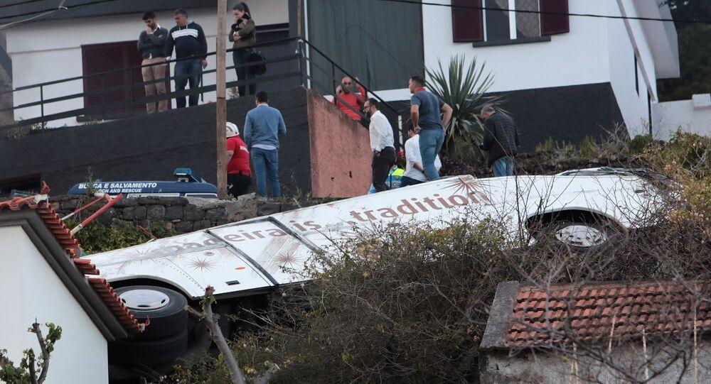 accident de bus au Portugal