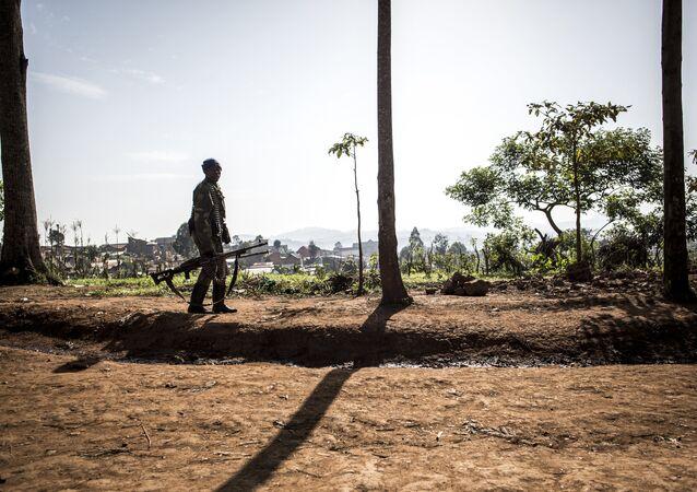 un soldat de la République démocratique du Congo